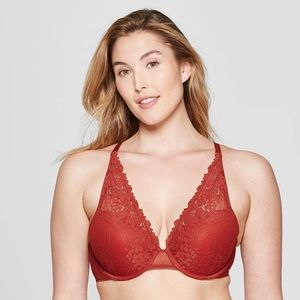 Women's High Apex Push Up Bra - Auden Orange Berry